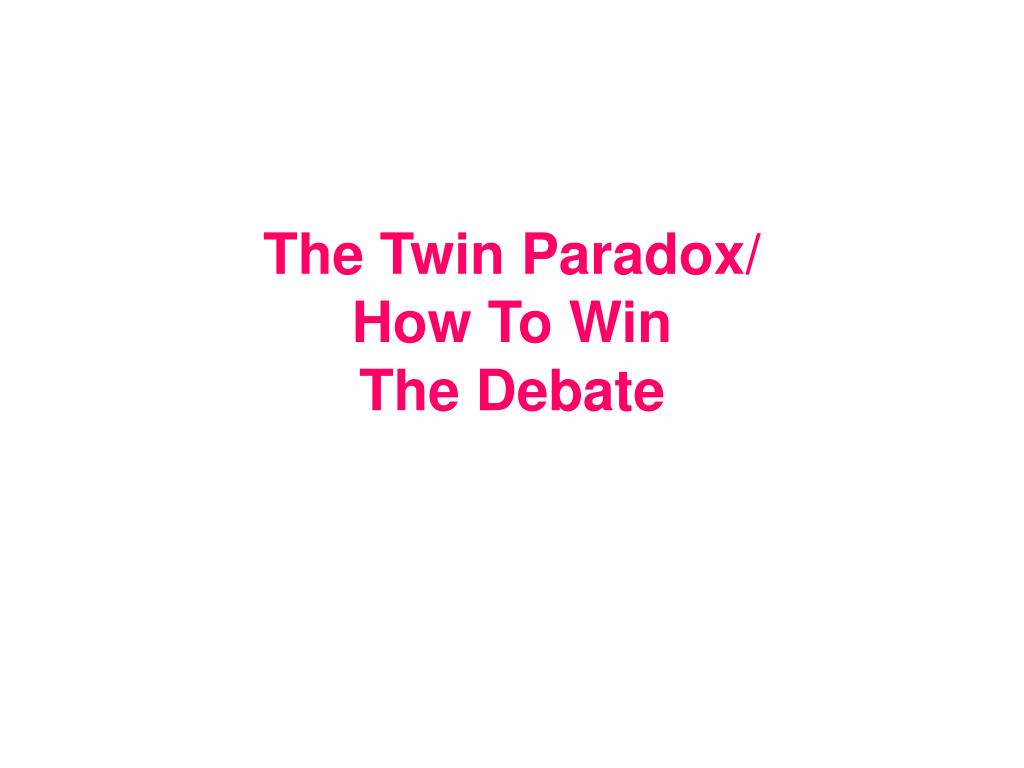 The Twin Paradox/