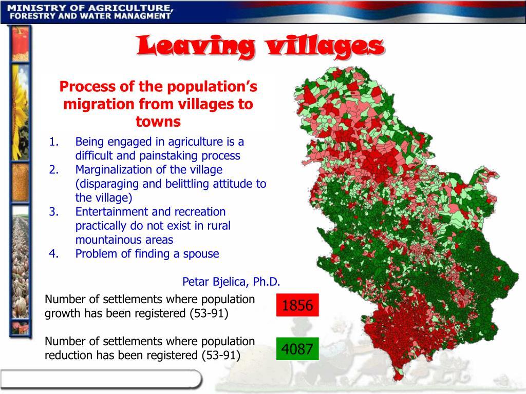 Leaving villages