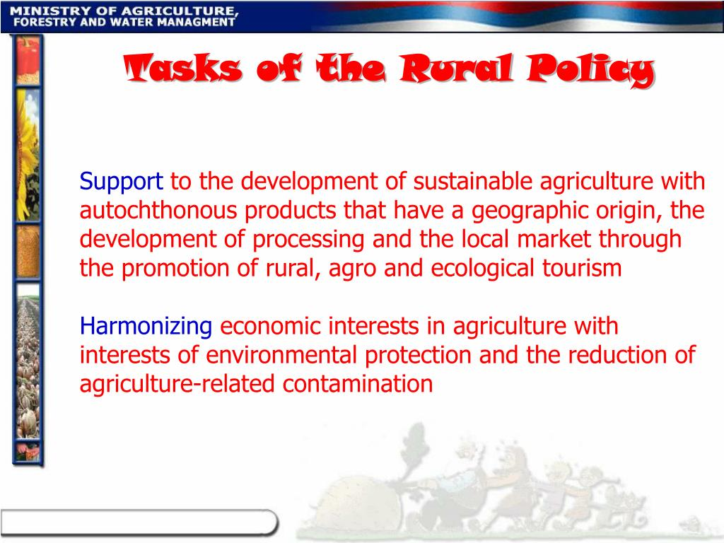 Tasks of the Rural Policy