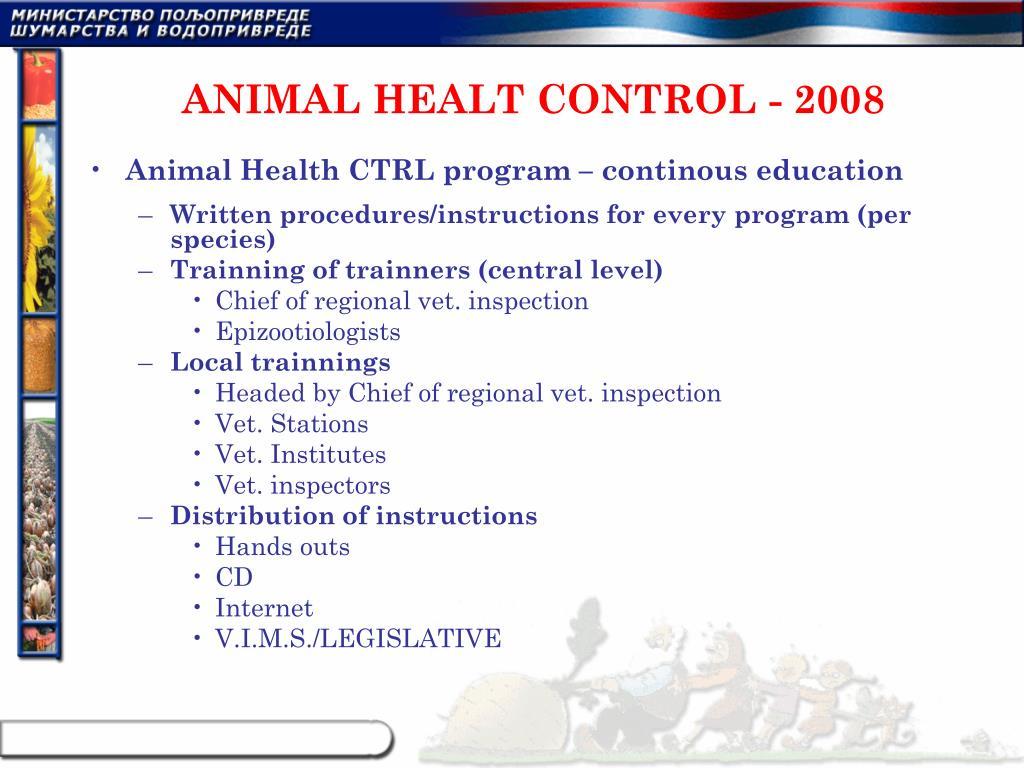 ANIMAL HEALT CONTROL - 2008
