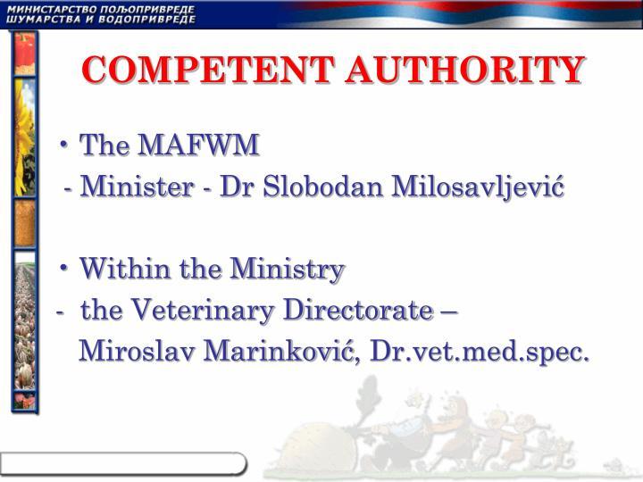 Competent authority