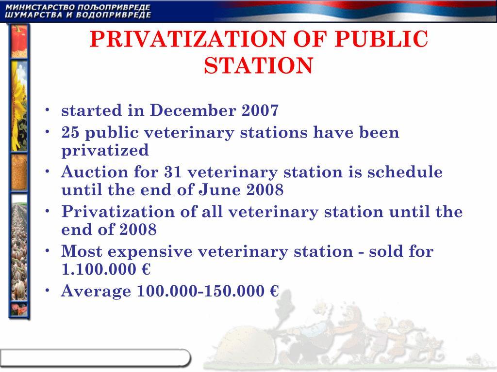 PRIVATIZATION OF PUBLIC STATION
