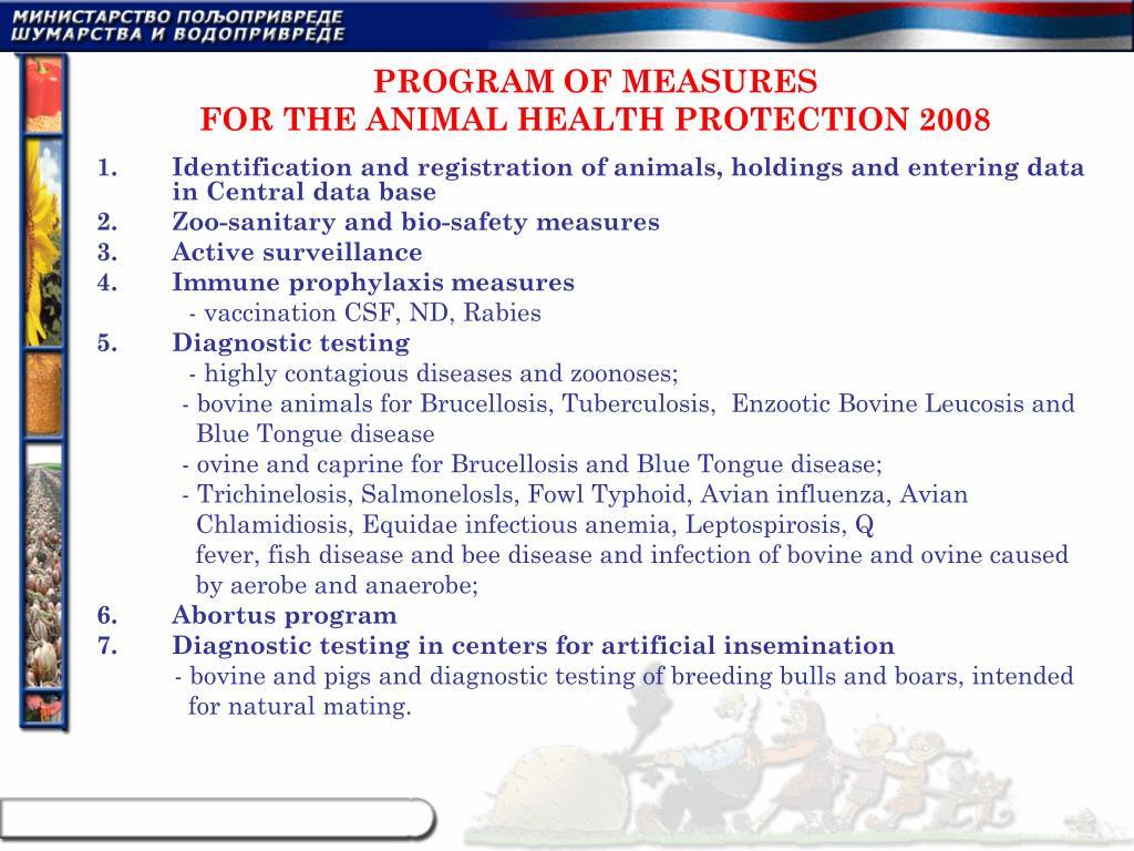 PROGRAM OF MEASURES
