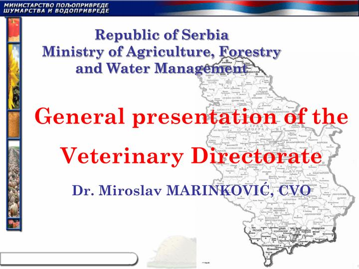 Republic of serbia ministry of agriculture forestry and water management