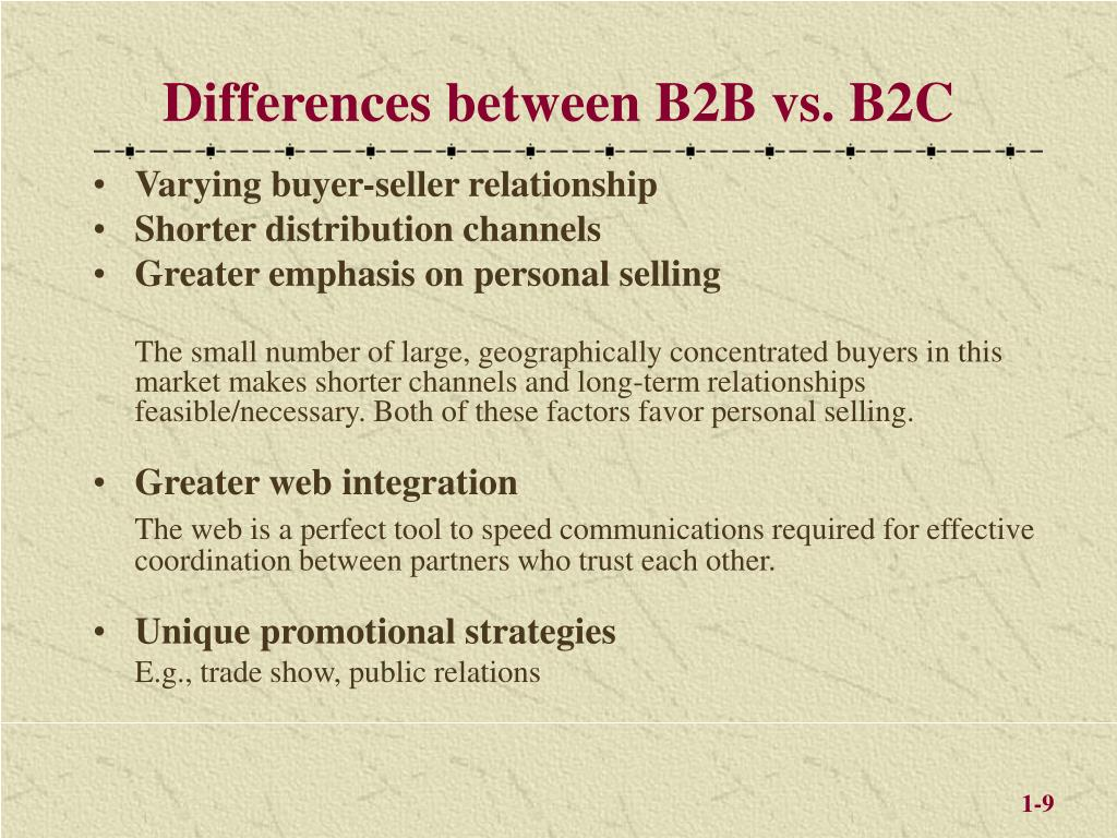 Differences between B2B vs. B2C