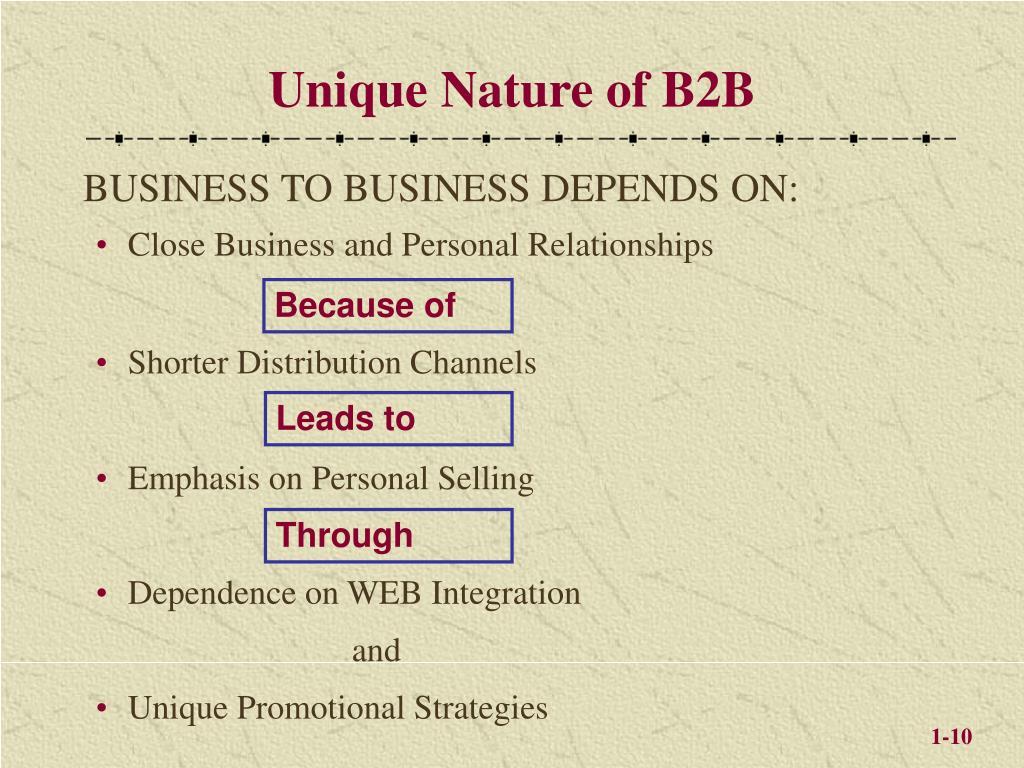 Unique Nature of B2B