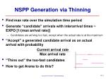 nspp generation via thinning