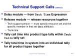technical support calls cont d30
