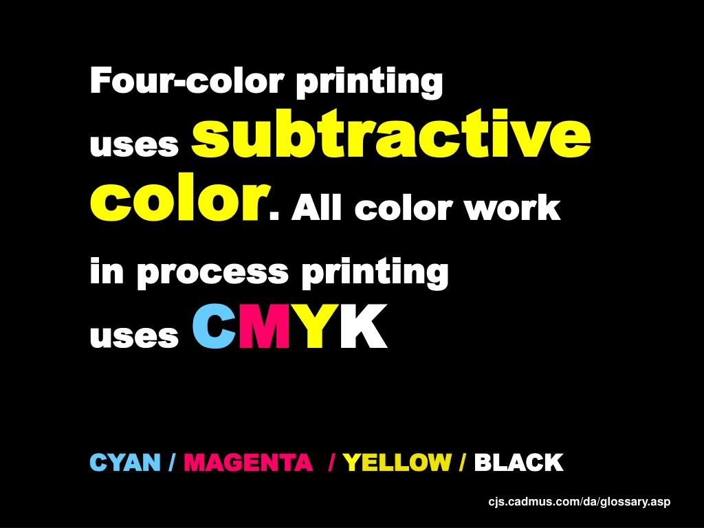 Four-color printing