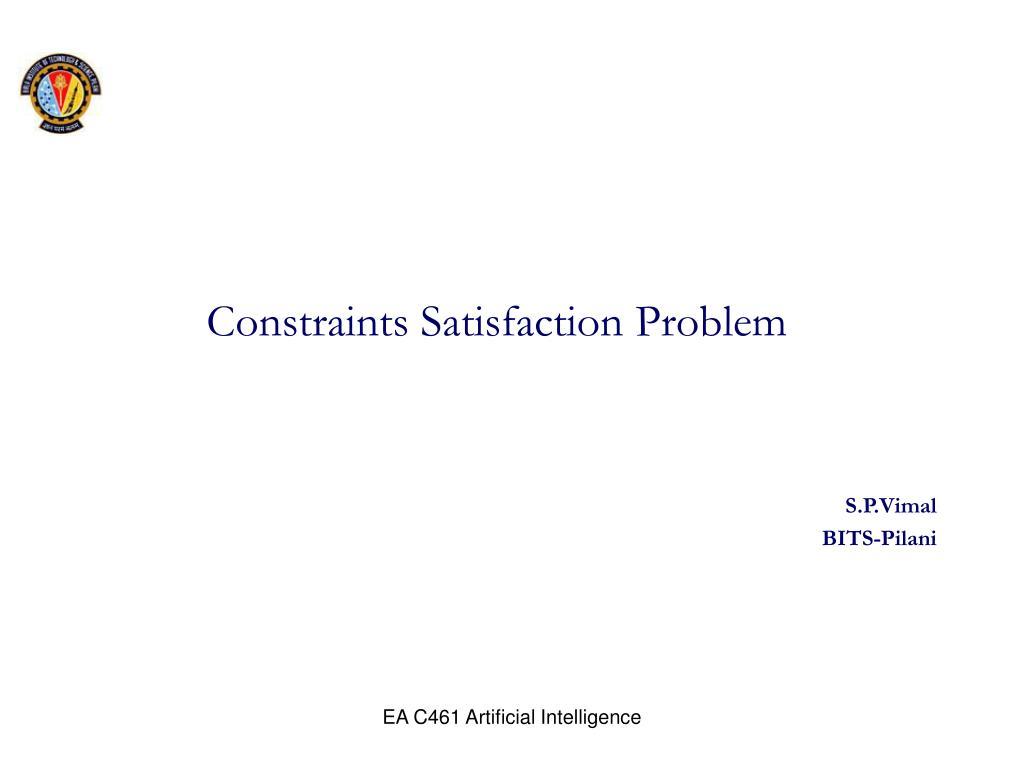 constraints satisfaction problem l.