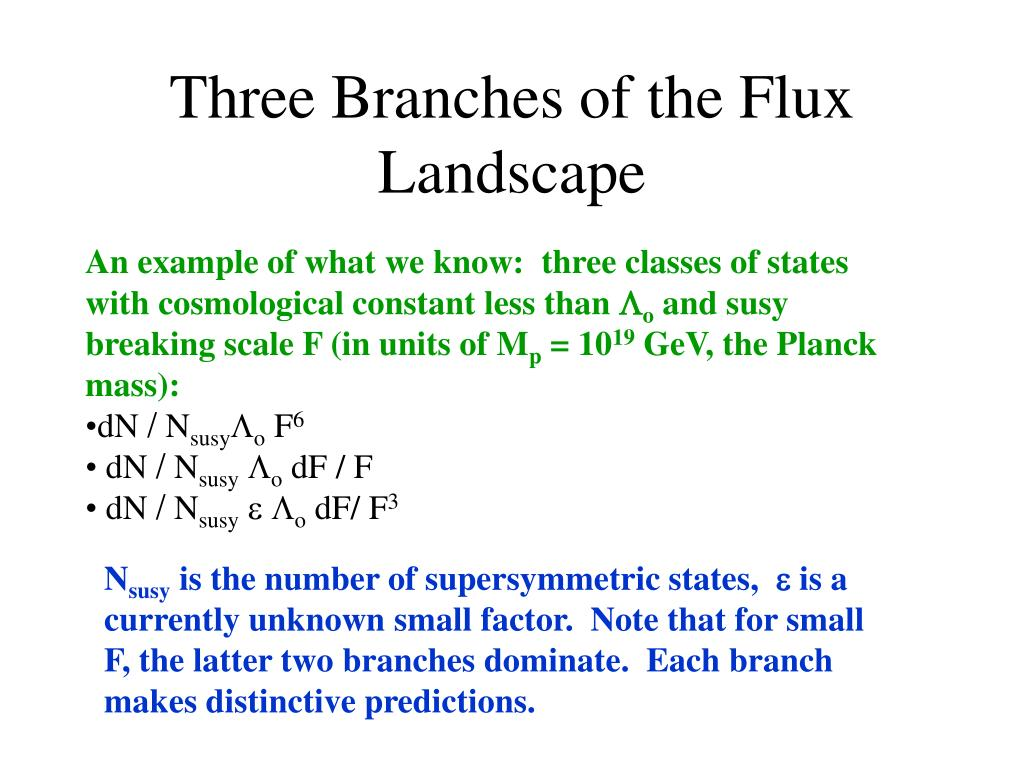 Three Branches of the Flux Landscape
