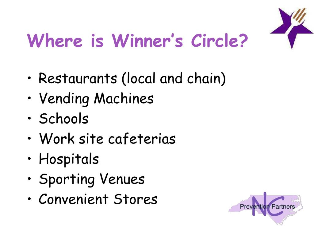 Where is Winner's Circle?
