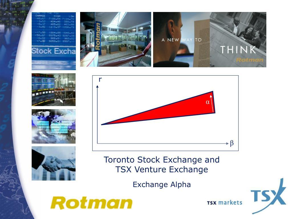toronto stock exchange and tsx venture exchange exchange alpha l.