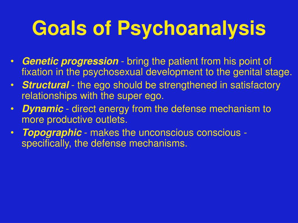 Goals of Psychoanalysis