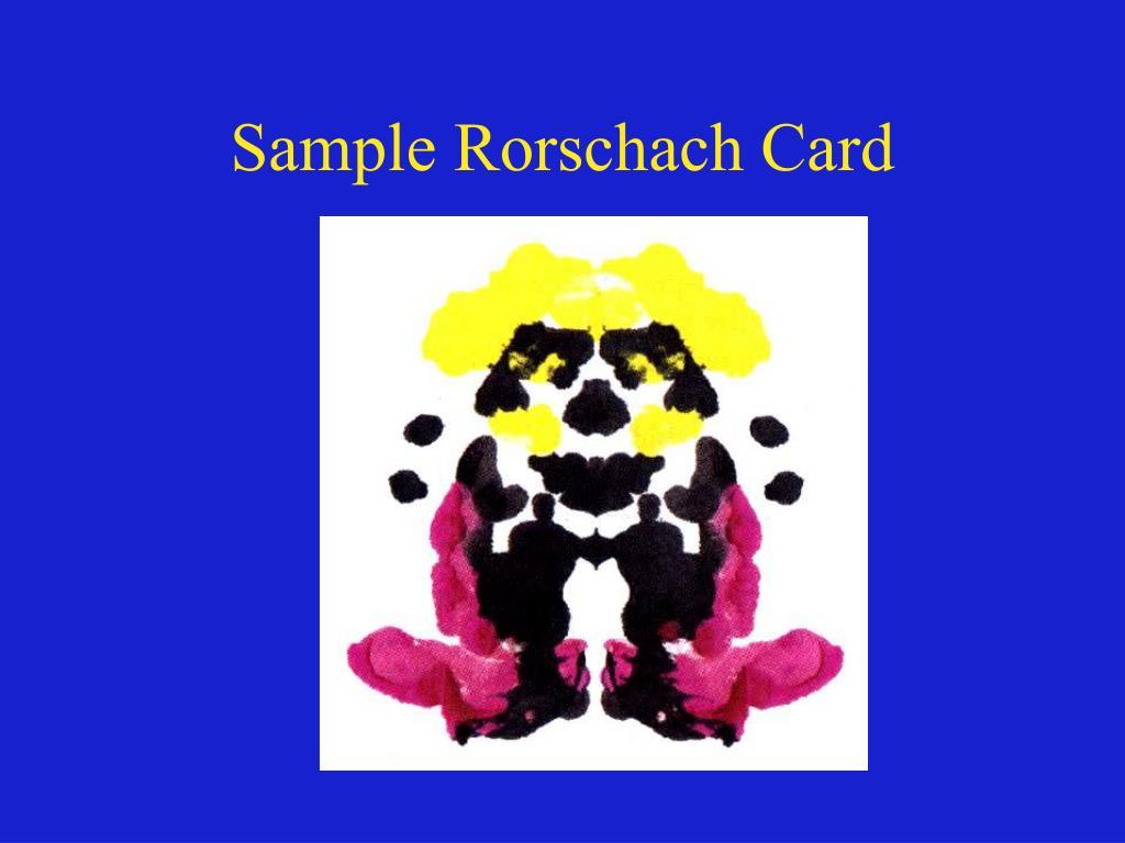 Sample Rorschach
