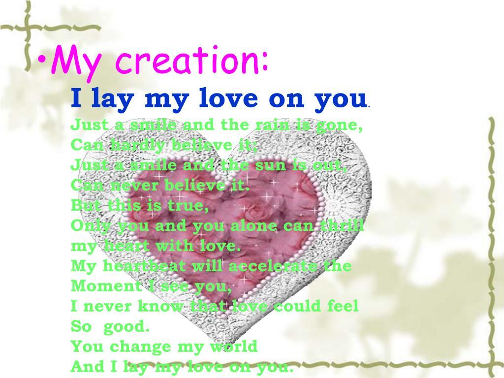 My creation: