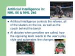 artificial intelligence in nhl 06 nhl 2k6