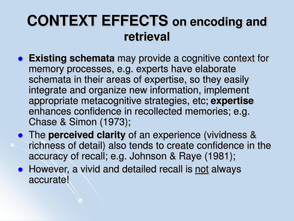CONTEXT EFFECTS