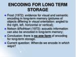 encoding for long term storage69