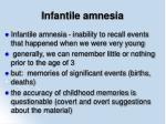 infantile amnesia7