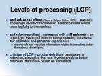 levels of processing lop45