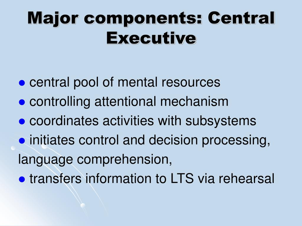 Major components: Central Executive