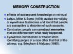 memory construction90