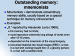 outstanding memory mnemonists