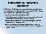 semantic vs episodic memory