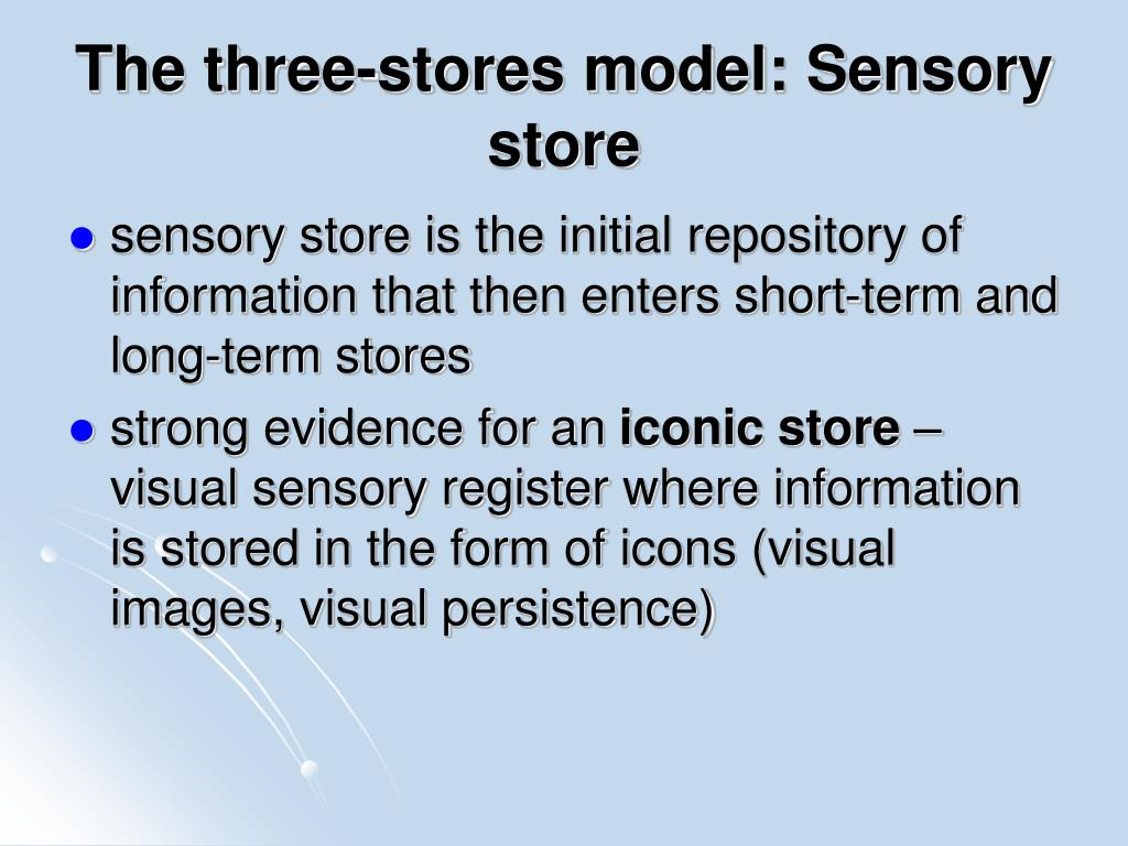 The three-stores model: Sensory store