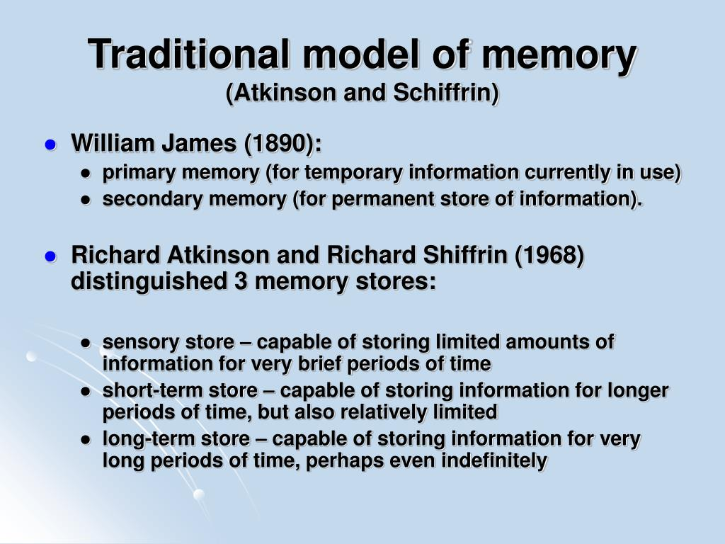 Traditional model of memory