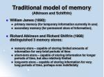 traditional model of memory atkinson and schiffrin