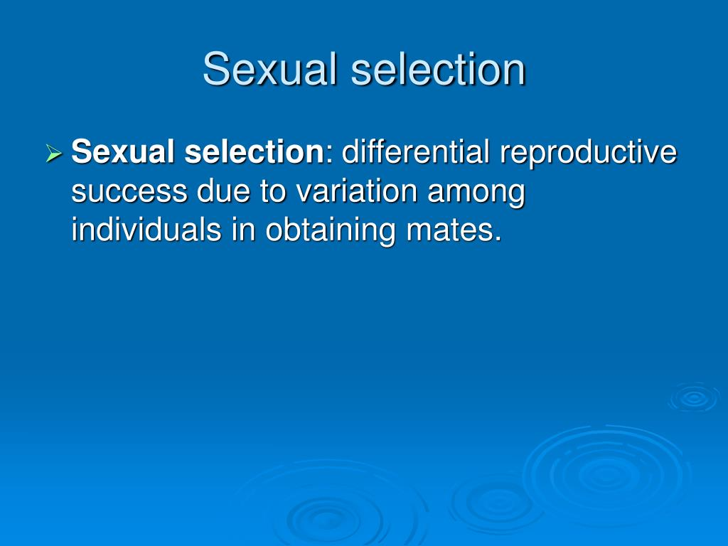 Sexual selection
