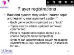 player registrations16