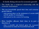 is family dining relevant for economic growth