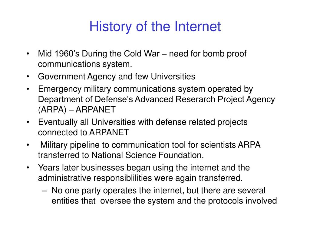 history of the internet l.