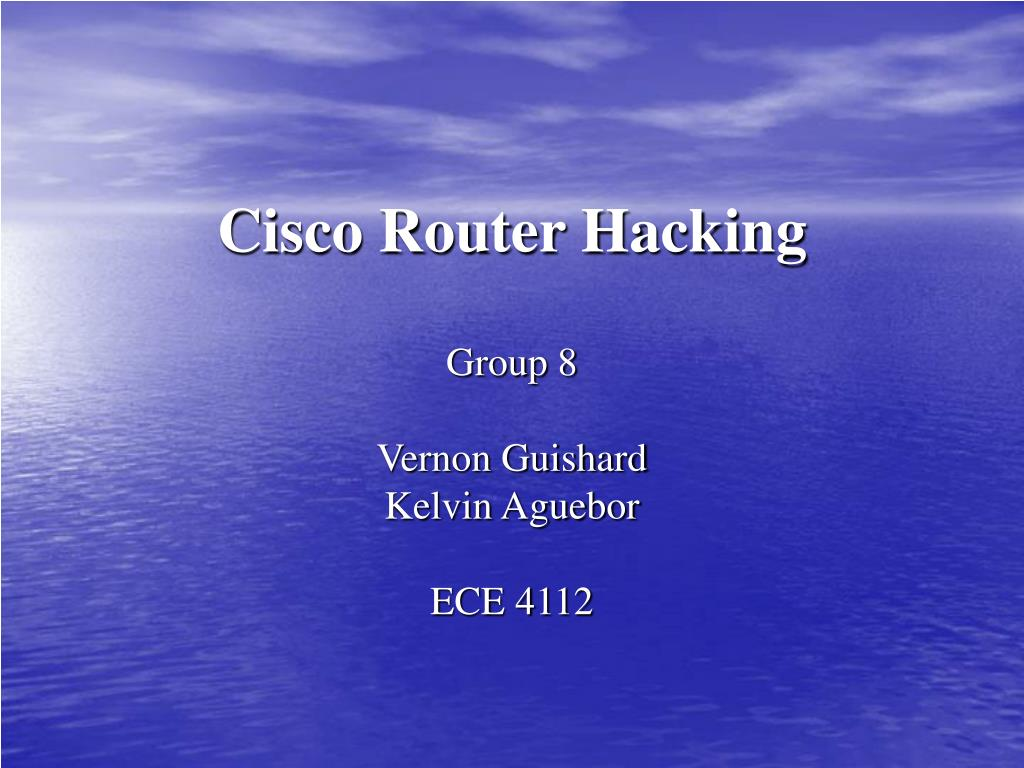 cisco router hacking l.