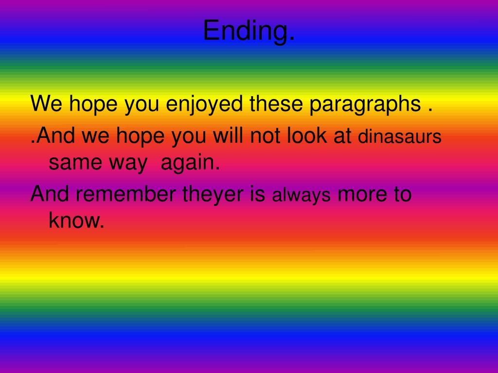 Ending.