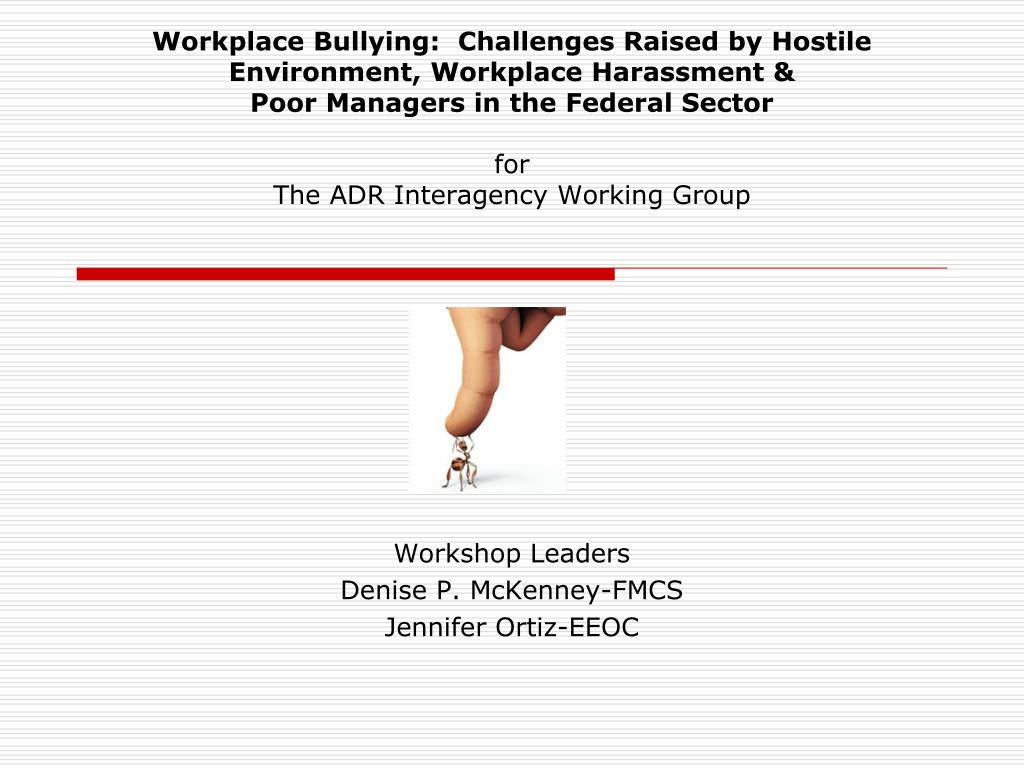 PPT - Workshop Leaders Denise P  McKenney-FMCS Jennifer