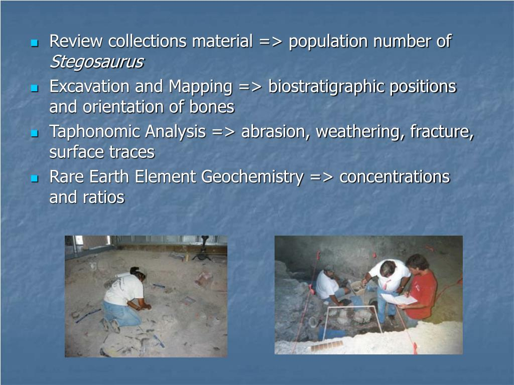 Review collections material => population number of