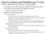 gate location and number per cavity9
