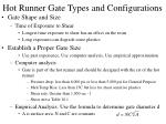 hot runner gate types and configurations32