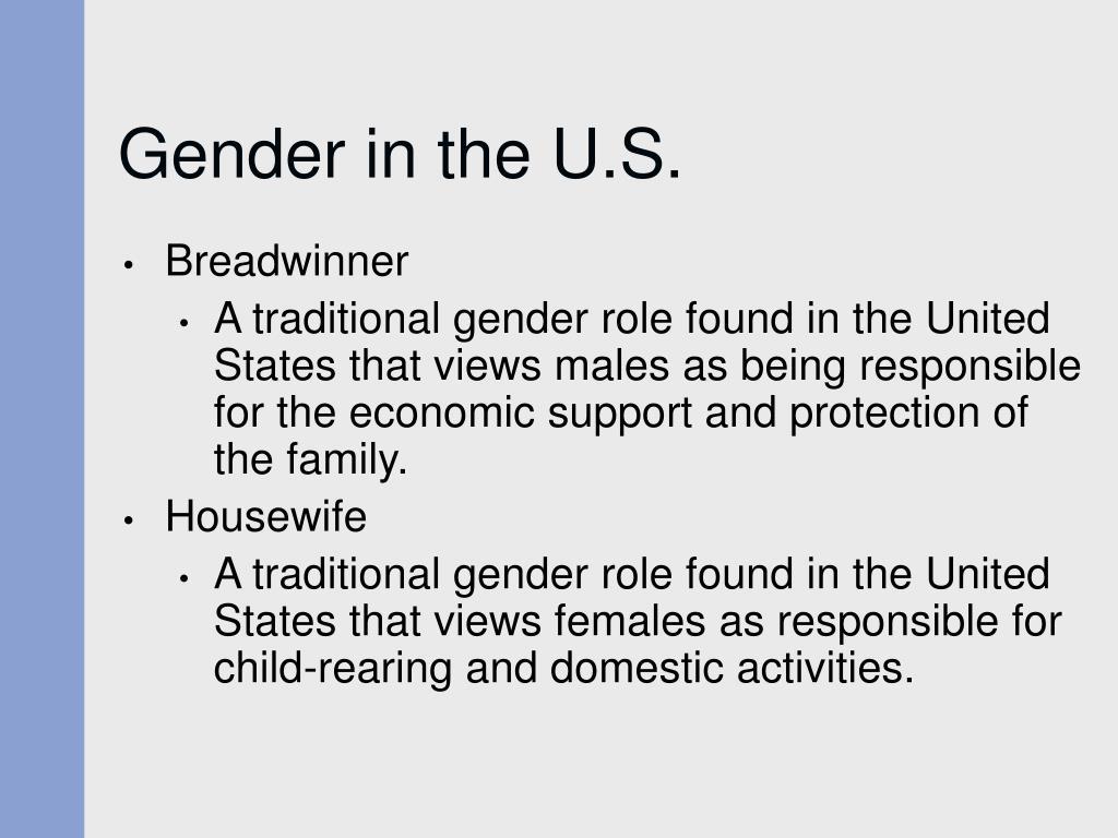 Gender in the U.S.