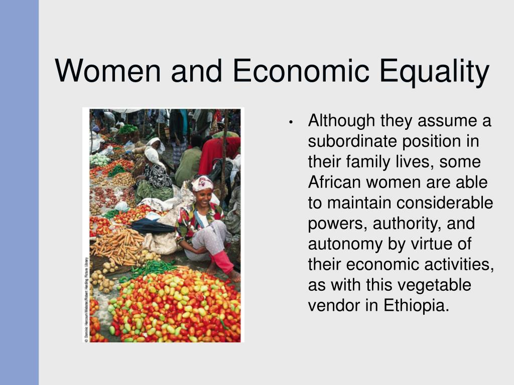 Women and Economic Equality