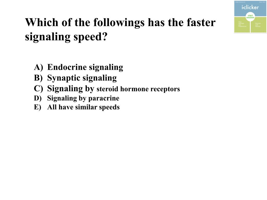 Which of the followings has the faster signaling speed?