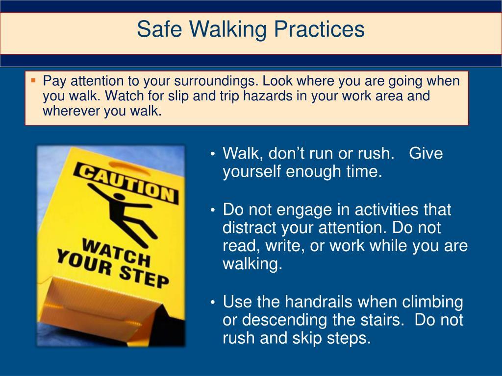 Safe Walking Practices