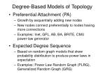 degree based models of topology7