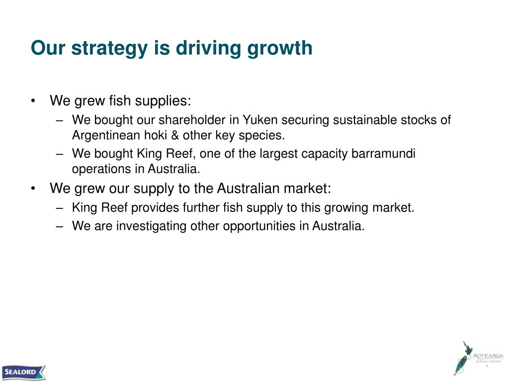 Our strategy is driving growth