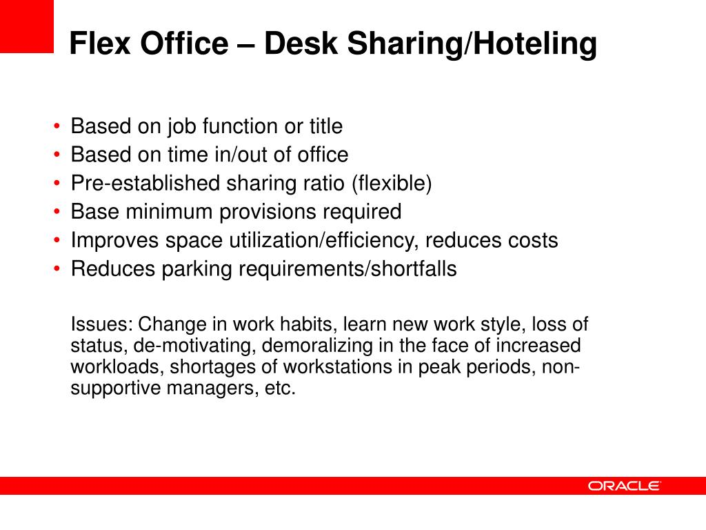 Flex Office – Desk Sharing/Hoteling