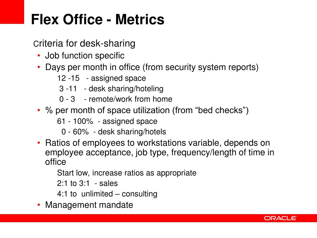 Flex Office - Metrics